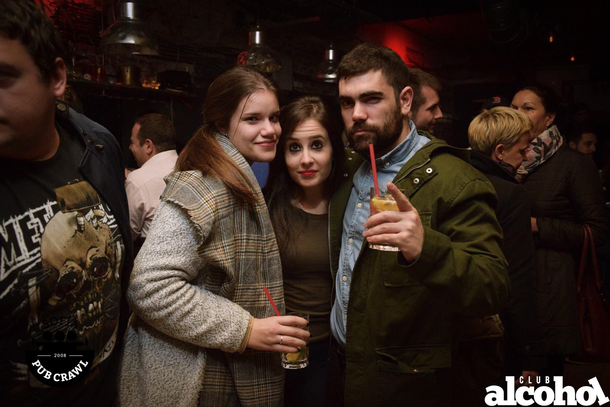 people enjoying sofia nightlife with sofia pub crawl in club alcohol
