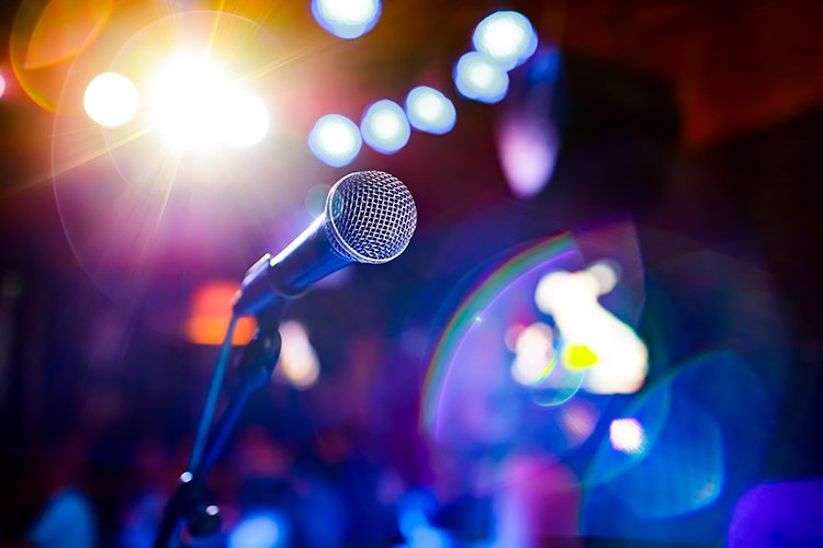 karaoke mic during sofia nightlife