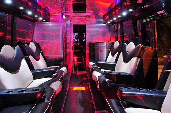 inside of a party bus in sofia