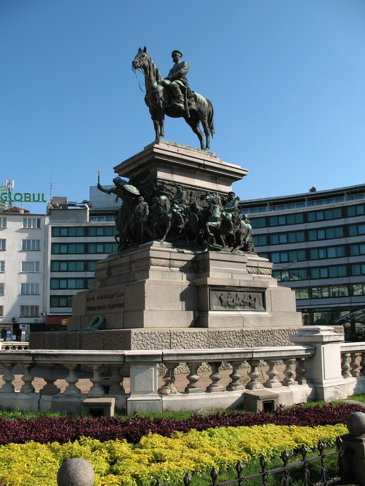 Sofia sightseeing monument of Alexander II