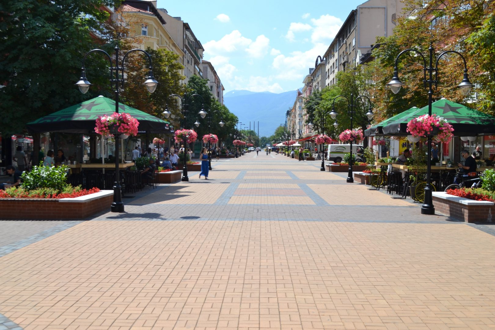 Vitosha street, a popular tourist destination