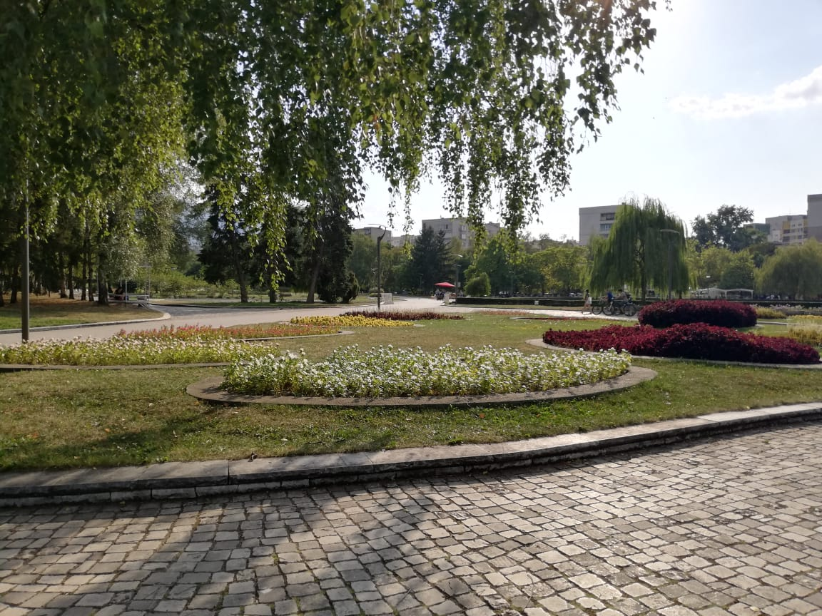 flower beds in Sofia South Park