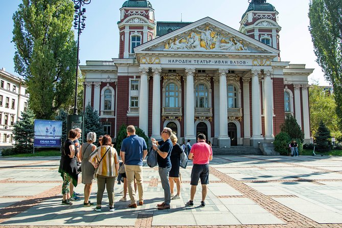 The ultimate sightseeing tour of Sofia looking at Vazov Theatre