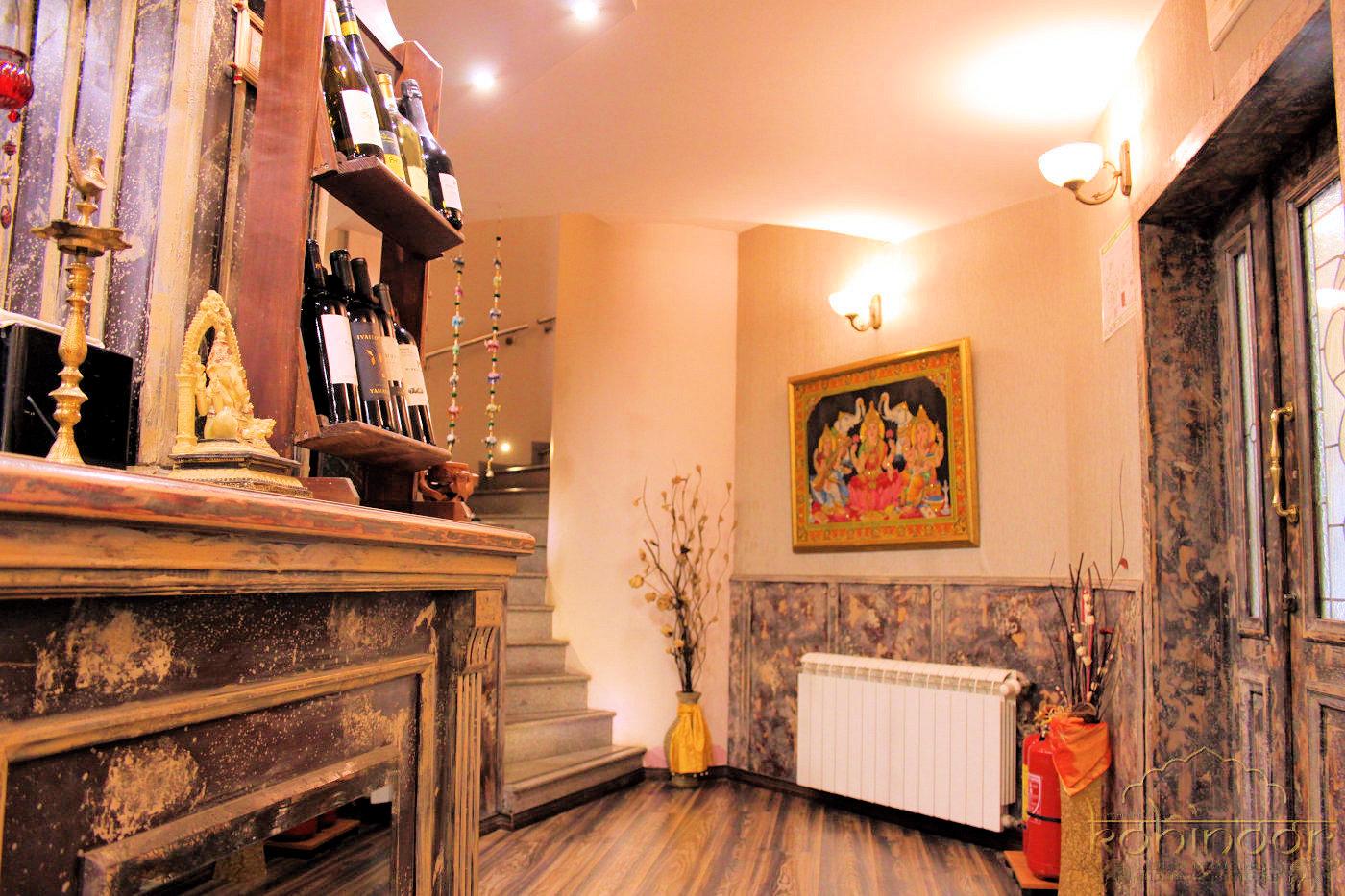 Indian restaurant in Sofia, interior
