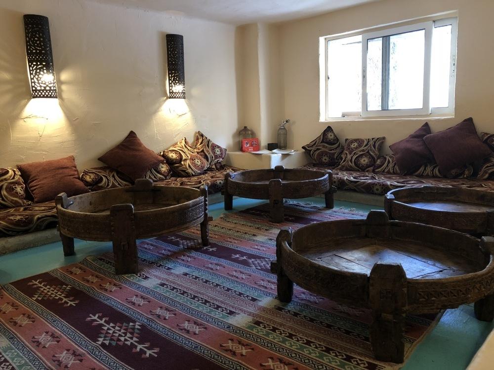 Interior of a Moroccan restaurant in Sofia