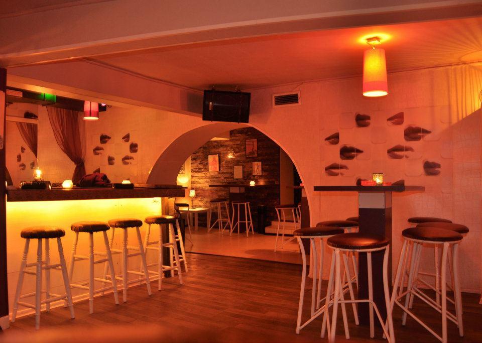 Interior at a lesbian bar in Sofia Bulgaria