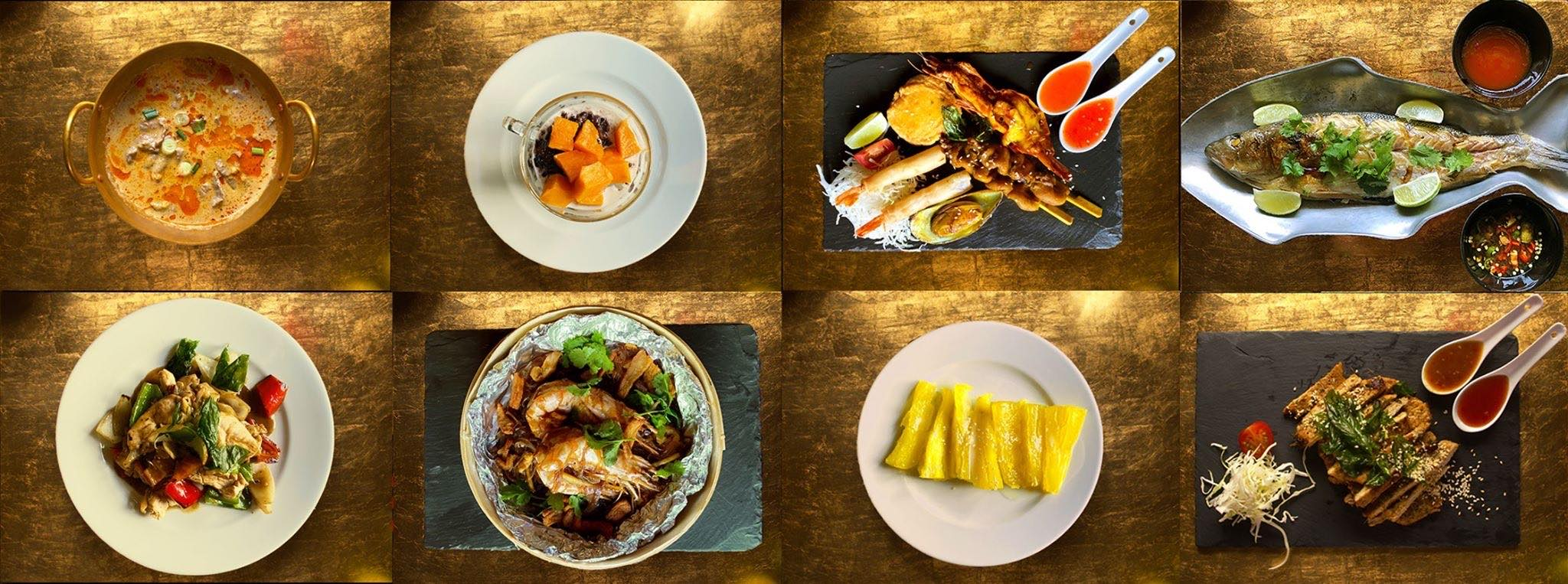 A selection of Thai dishes at a Thai restaurant in Sofia