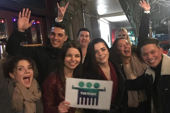 A group of people at Sofia Pub Crawl in Bulgaria